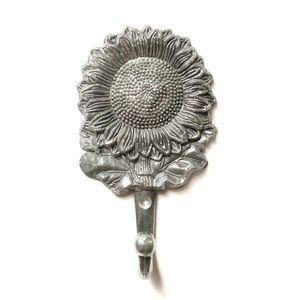 Metal Sunflower Coat Hook